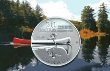 Canada 2011 $20 for $20 0.9999 pure Fine Silver Coin - Canoe