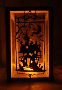 Halloween light/light shade with 4 different side - handmade