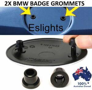 2X REPLACEMENT BMW 82MM BONNET BOOT TRUNK BADGE GROMMETS PART NO 51141807495