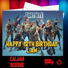 Fortnite Birthday Card Personalised Son Grandson Nephew  Daughter FREE P+P 03