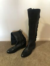 Vince Camuto Parle Women's Leather Black Tall Over The Knee Boots Size 8.5