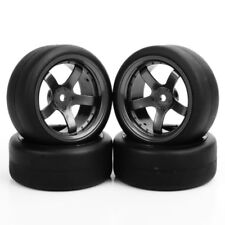 NEW 4Pc 1:10 On-Road RC Racing Car Flat Drift Tires Rims For HSP HPI PP0338+D5M