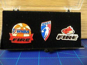 WNBA Portland Fire Lapel Pin Set Women's Basketball Souvenir 3 Pins