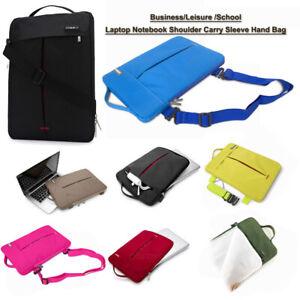 Laptop Shoulder Hand Bag Waterproof Carry Soft Velvet Notebook Sleeve Case Cover