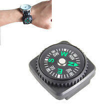 10PCS Portable Pocket Outdoor Camping Hiking Mini Compass Slide on Watch 20MM