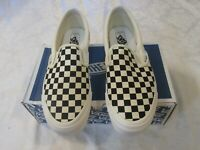 Vans OG Classic Slip-On Checkerboard Black White VN000UDFF8L Men's US Size 12