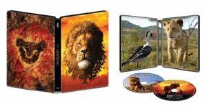 The LION KING (U.S EXCLUSIVE STEELBOOK /4K Ultra HD +Blu-ray +Digital, 2019) NEW