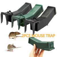 2X Reusable Humane Mouse Trap Rat Bait Box Safe Mice Pest Catcher Auto Conteol