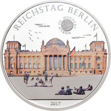 Palau 2017 Reichstag Berlin 5 Dollars Colour Silver Coin,Proof