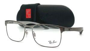 Ray Ban Carbon Fiber RX8416 2620 Gunmetal  / Demo Lens  55mm Eyeglasses RB8416