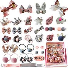 6pcs//Set Fashion Cute Pink Girl Infant Hair Accessories Fabric Clips Headband