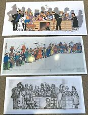 Lot of 3 Herge/Harry Edwood Tintin Character Scene Prints Unofficial A4 Posters