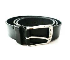 Zara Vintage Mens Leather Belt Black Size 34