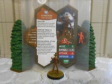 Heroscape Custom Scarecrow Double Sided Card & Figure w/ Sleeve DC