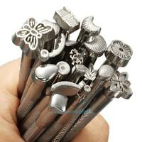 20pcs Leather Stamping Embossing Saddle Making Tools Carving Leather Craft Stamp