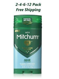2-6 pack Mitchum Men Advanced Control, Clean Control Invisible Solid 2.7 Oz
