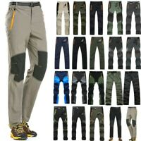 Men Quick Dry Pants Tactical Hiking Climbing Combat Trousers Waterproof Pants US