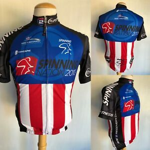 24 HOUR FITNESS (2010) Official Spinning Nation Cycling Bike Jersey Size XS