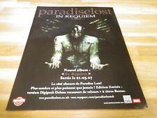 PARADISE LOST - Publicité de magazine / Advert IN REQUIEM 2 !!!
