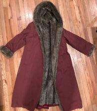 Vintage Forecaster Faux Fur Full Length Insulated  Dress Coat Women Sz 15/16