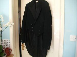 """ANTIQUE/VINTAGE  Mens Black Tailcoat Morning Coat JAMES WEDDELL MANCHESTER 38"""""""