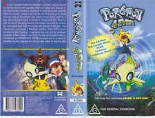 POKEMON 4 EVER VHS PAL VIDEO~ A RARE FIND