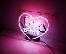 """love 24hrs"" Shop Bar Couture Home Decor Neon Sign Light Wall Poster"