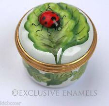 Halcyon Days Enamels Ladybird Sculptured Bonbonniere Enamel Box