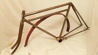 Vintage Yale Consolidated Mfd Bicycle frame and Fork Motorbike Frame Prewar bike