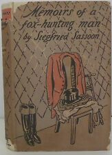 SIEGFRIED SASSOON~MEMOIRS OF A FOX-HUNTING MAN~Illustrated edition~HB DJ~1929