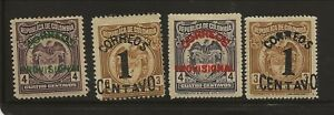 COLOMBIA Sc 382-85 LH issue of 1925 - OVERPRINTS