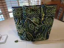 Vera Bradley Rhythm & Blues tote purse bag retired print green blue purse teal