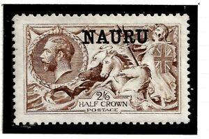 NAURU(Z-850)1916 SG21 2/6d DE-LA-RUE BROWN  O/PRINT VERY FINE UMM / MNH