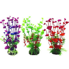 Plastic Plant Artificial Color Water Grass for Aquarium Fish Tank Ornament Decor