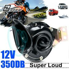 350DB 12V Motorcycle Car Electric Auto Air Horn Super Loud Raging Truck Boat