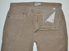 "J.Crew Men's ""Uran Slim"" Tan Skinny Corduroy Jeans Pants 32 X 28.5 AWESOME"