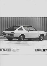 "RENAULT 17 TS ORIGINALE PRESS PHOTO ""SALES BROCHURE"""