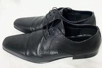 Red Tape Men Black Embossed Smart Shoes UK Size 8