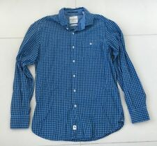 Tommy Bahama Mens Long Sleeve Button Shirt Blue Check Size Small