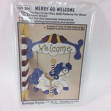 Merry Go Welcome Wood Patterns Workshoppe Originals GS304 1994 Primitives VTG