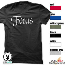 Focus Gym Rabbit T-Shirt Gym Fitness Workout Weightlifting Motivation E575