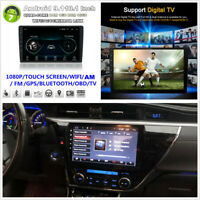 """Ultra Thin 2 DIN Android 9.1 10.1"""" Quad-core 1+16GB Car Stereo Radio BT WiFi GPS"""