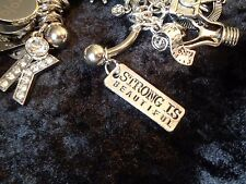 Strong is Beautiful! Motivation Weight Loss Charm for Weight Watchers Ring