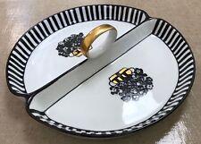 "Vintage circa 1911 ""Noritake Nippon"" Hand Painted Divided Relish Dish"