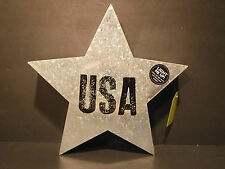 "Studio Demdaco Punched Metal ""USA"" Light Up Star 11.75"" x 11.75"" x 2""  NWT Decor"