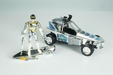 Power Rangers In Space Silver Ranger Galaxy Galactic Cycle + Rover + Accessories