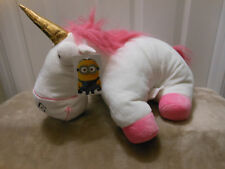 "Despicable Me 2 Minions 13"" Pillow Pet Unicorn Fluffy Soft Plush Toy Factory NWT"