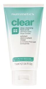 Nutrimetics Clear Deep Cleansing Face Scrub. Acne Treatment.