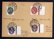 B023 DR Nothilfe 1926 398 - 401 Randstücke gestempelt Hartha 9.12.26