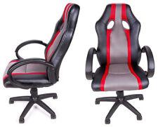 Bürostuhl Sportsitz Gaming Stuhl Chefsessel Sessel Drehstuhl Kunstleder Komfort